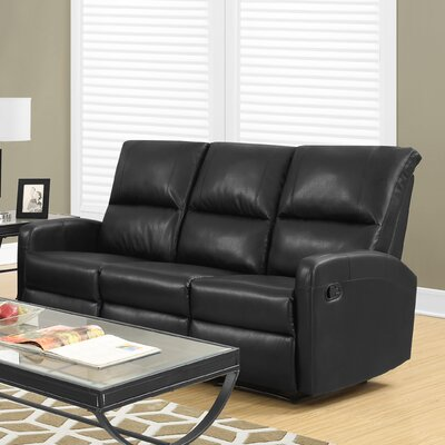 Reclining Sofa Upholstery: Black