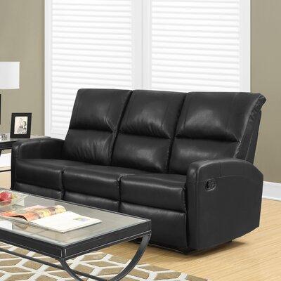 Reclining Sofa Upholstery: Charcoal Grey
