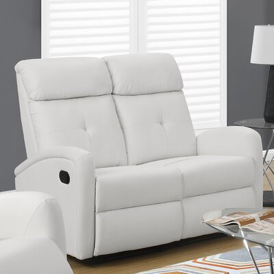Reclining Loveseat Upholstery: White