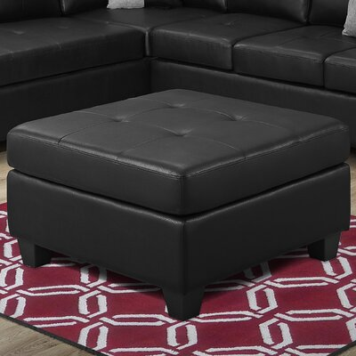 Ottoman Upholstery Color: Black