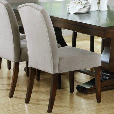 Parsons Chair Upholstery: Velvet - Beige
