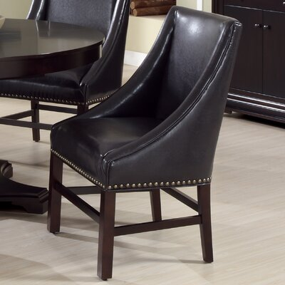 Parsons Chair Upholstery: Bond Leather - Dark Brown