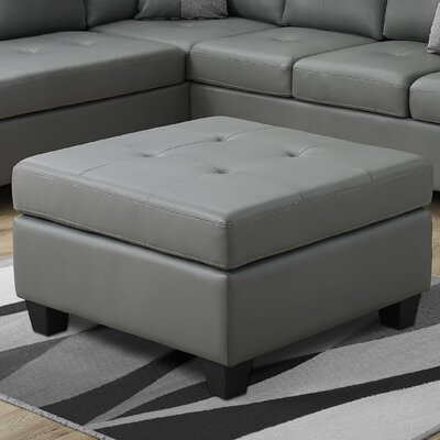 Ottoman Upholstery Color: Light Grey