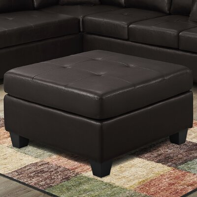 Ottoman Upholstery Color: Dark Brown