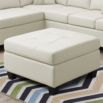 Ottoman Upholstery Color: Ivory
