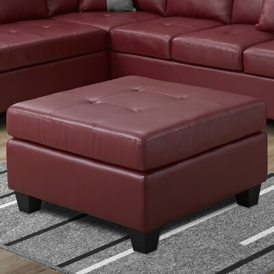 Ottoman Upholstery Color: Red