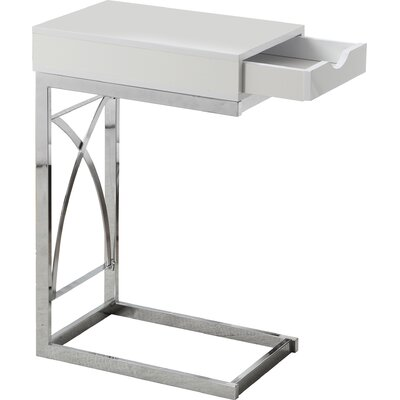 End Table With Storage Color: White