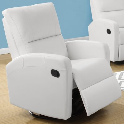 Swivel Glider Recliner Upholstery Color: White