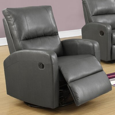 Swivel Glider Recliner Upholstery Color: Gray