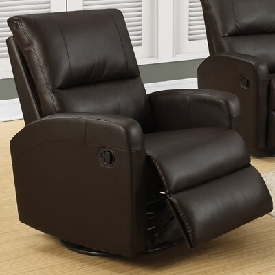 Swivel Glider Recliner Upholstery Color: Dark Brown