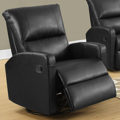 Swivel Glider Recliner Upholstery Color: Black