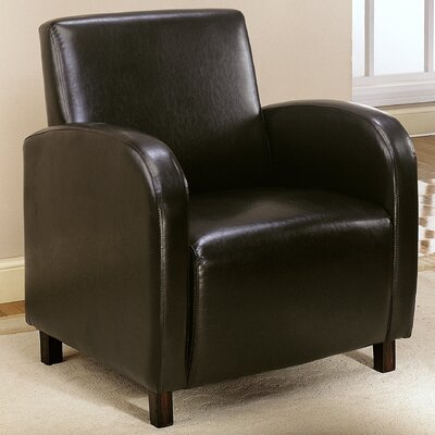 Club Chair Upholstery Color: Dark Brown