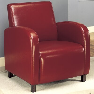 Club Chair Upholstery Color: Burgundy