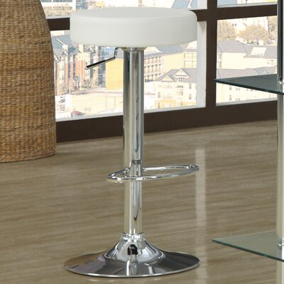 Adjustable 25 Swivel Bar Stool Upholstery: White