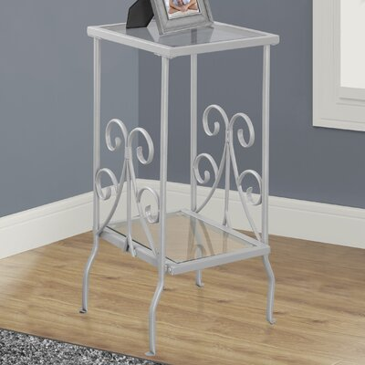 Tempered Glass End Table Finish: Silver