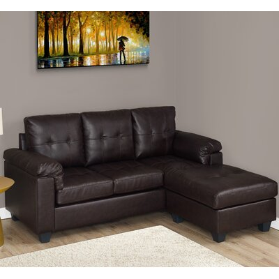 3 Seater Lounger Sofa Upholstery: Dark Brown