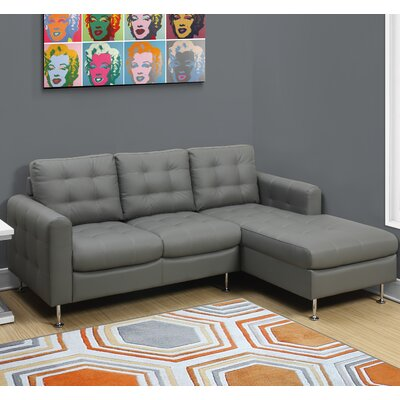 3 Seater Lounger Sofa Upholstery Color: Light Gray