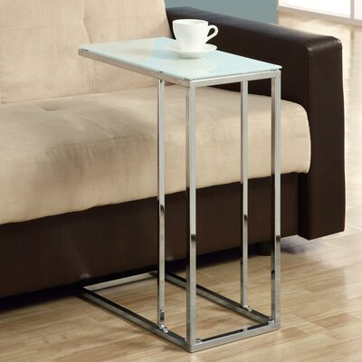 Frosted Tempered Glass End Table