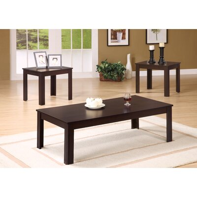 3 Piece Coffee Table Set Finish: Cappuccino