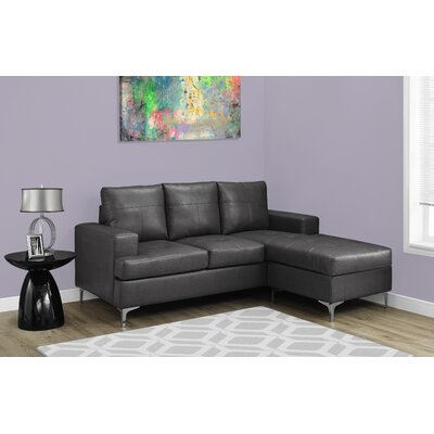 Sectional Upholstery: Charcoal Gray