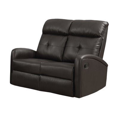 Reclining Loveseat Upholstery: Dark Brown
