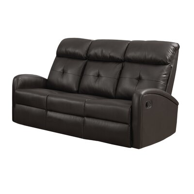 Reclining Sofa Upholstery: Dark Brown