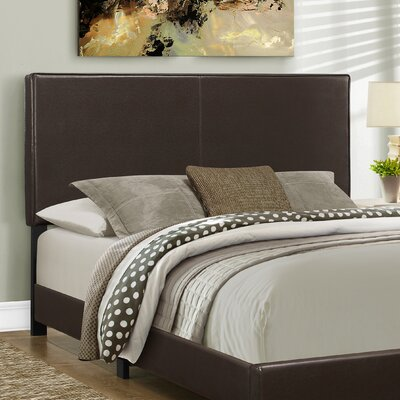 Queen Upholstered Panel Headboard Color: Dark Brown