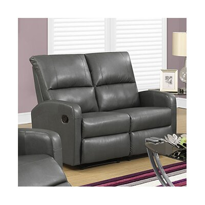 Reclining Loveseat Upholstery Color: Charcoal Grey