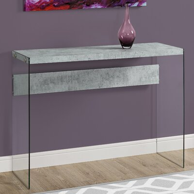 Console Table Finish: Gray Cement