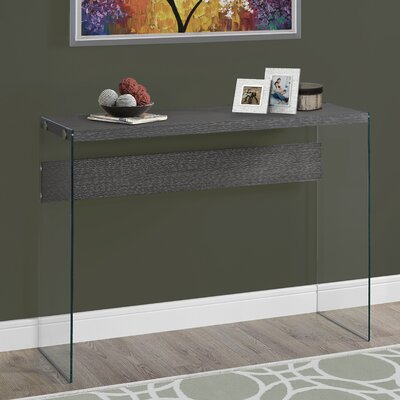 Console Table Finish: Gray Wood