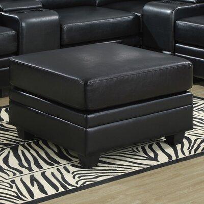 Corner Unit Leather Ottoman Upholstery: Black