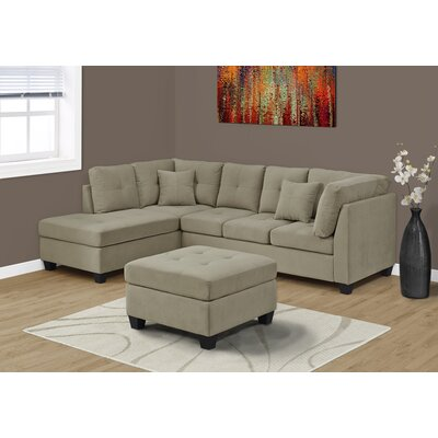 Sectional Upholstery: Taupe
