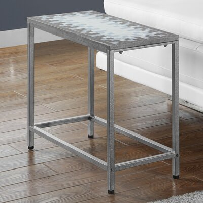 End Table Finish: Grey / Silver