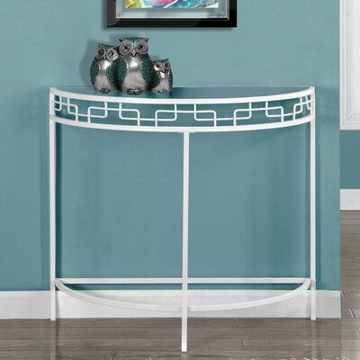 Hall Console Table Finish: White