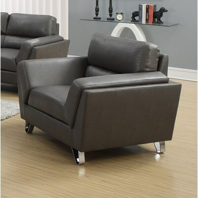Armchair Fabric: Charcoal Grey