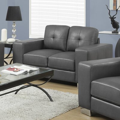 Loveseat Upholstery: Charcoal Grey
