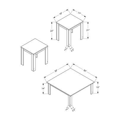 Fontes 3 Piece Coffee Table Set