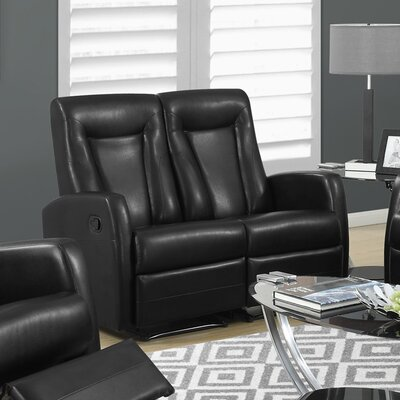 Reclining Loveseat Color: Black