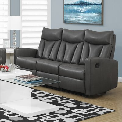 Reclining Sofa Upholstery: Charcoal Grey