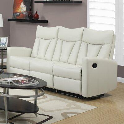 Reclining Sofa Upholstery: Ivory