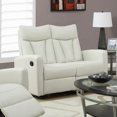 Reclining Loveseat Upholstery: Ivory