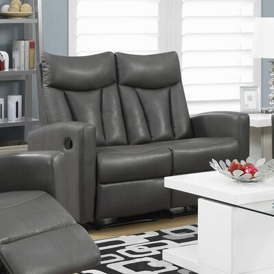 Reclining Loveseat Upholstery: Charcoal Grey