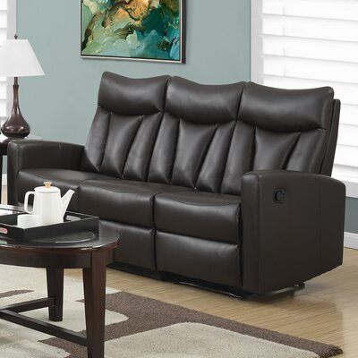 Reclining Sofa Upholstery: Brown