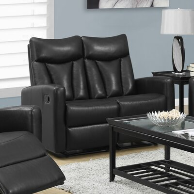 Reclining Loveseat Upholstery: Brown