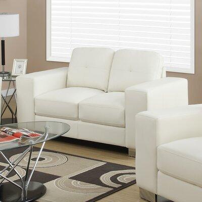 Loveseat Upholstery: Ivory