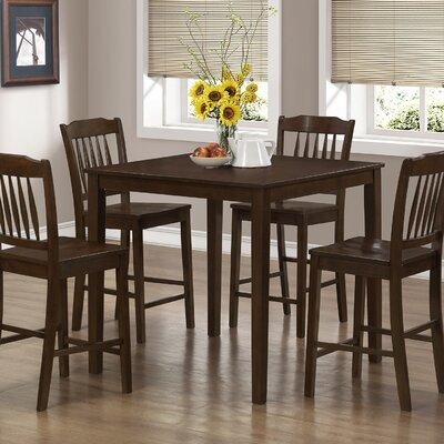 5 Piece Counter Height Dining Set Finish: Cappuccino