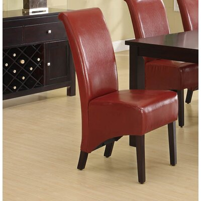 Upholstered Dining Chair Upholstery: Burgundy
