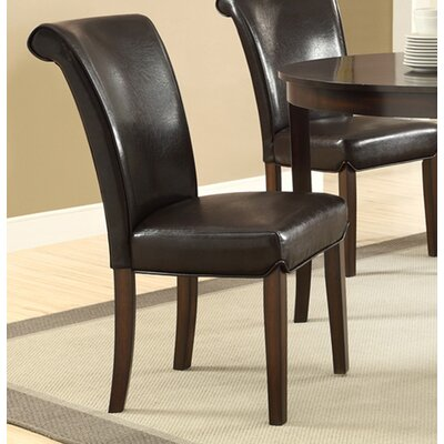 Side Chair Upholstery: Dark Brown