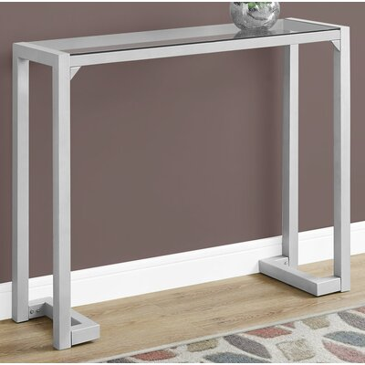 Tempered Glass Hall Console Table Finish: Sliver