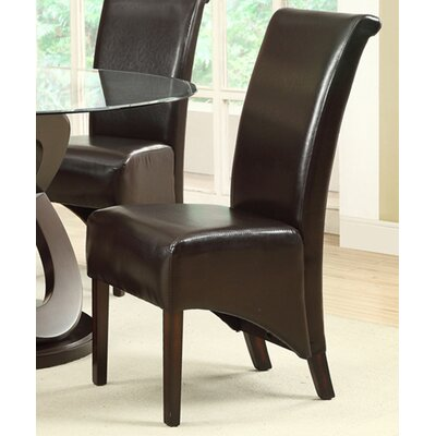 Upholstered Dining Chair Upholstery: Dark Brown